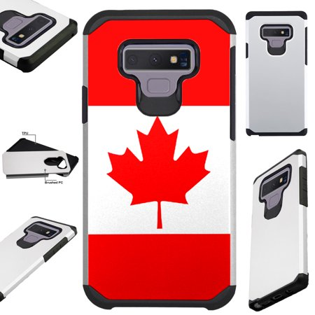 For Samsung Galaxy Note 9 Case Hybrid TPU Fusion Phone Cover (Canada Flag)