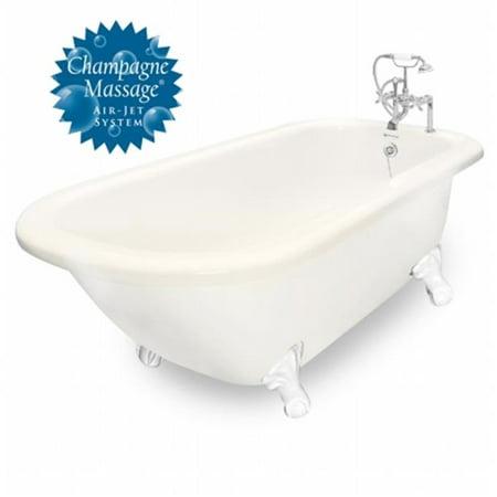 - American Bath Factory T060F-WH-R-B Champagne Maverick 67 in. Bisque Acrastone Air Bath Tub, Small