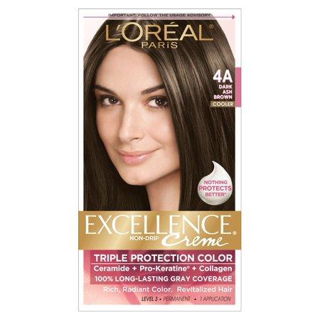 L'Oreal Paris Excellence Creme Hair Color, 4A Dark Ash ...