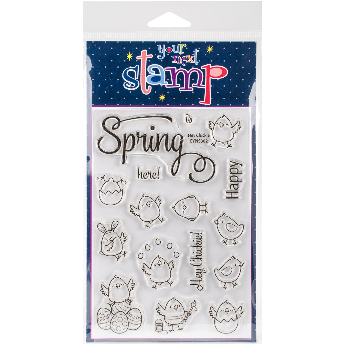 "Your Next Stamp Clear Stamps, 4"" x 6"", Hey Chickie"