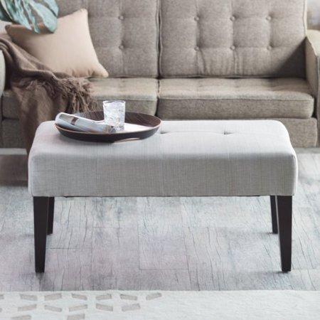 Belham Living Altea Upholstered Coffee Table Bench Linen Sand