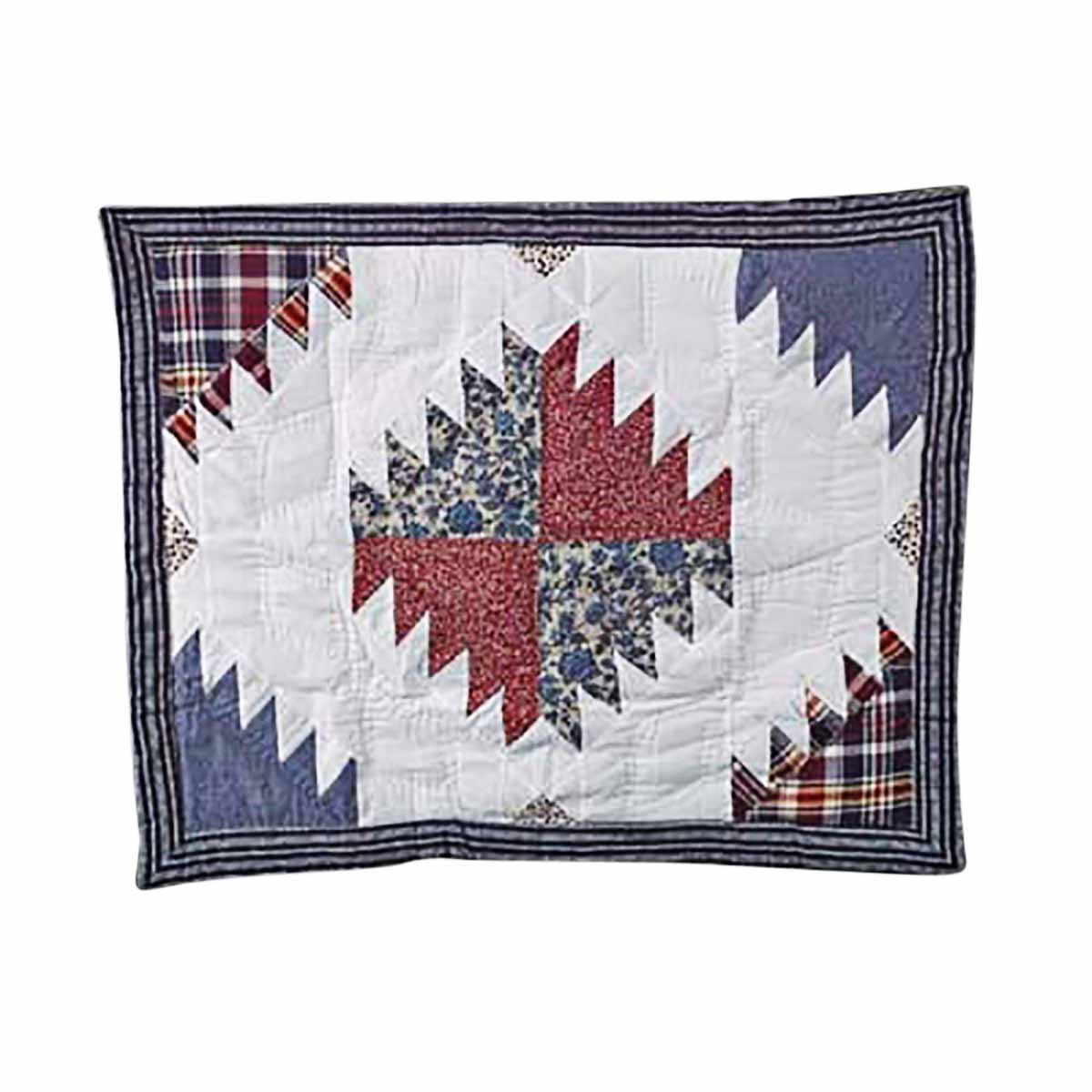 Cotton PIllow Sham Red White and Blue | Renovator's Supply