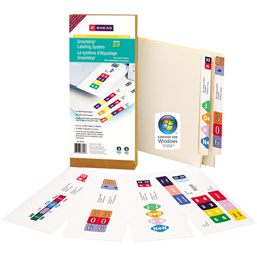 Smead Smartstrip Labeling System Starter Kit with CD Software and 50 Label Forms, Inkjet