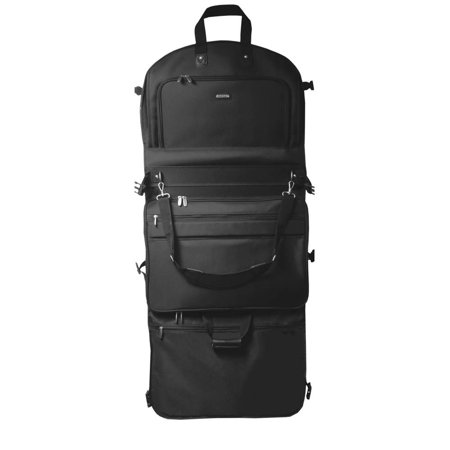 00212b4b3d7f WallyBags Tri-Fold Garment Bag w Shoulder Strap in Black