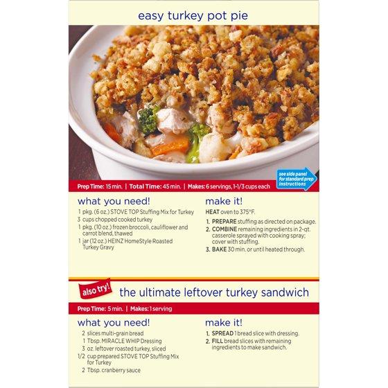 Kraft Stove Top Stuffing Mix For Turkey 6 Oz Box Walmart