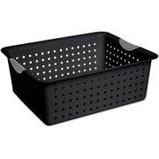 Sterilite Large Ultra Basket- Black, Case of 6