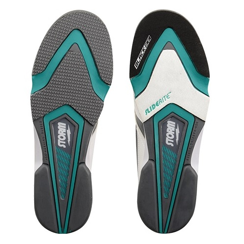 Storm Blizzard White/Teal/Black Men's Bowling Shoes, Size 11