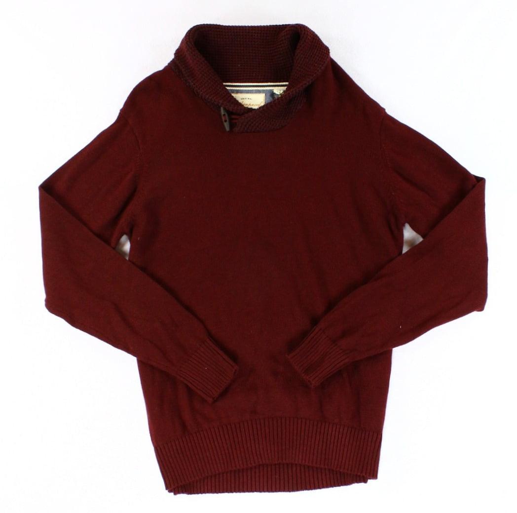 Weatherproof NEW Red Mens Size Medium M Shawl Collar Polo Sweater