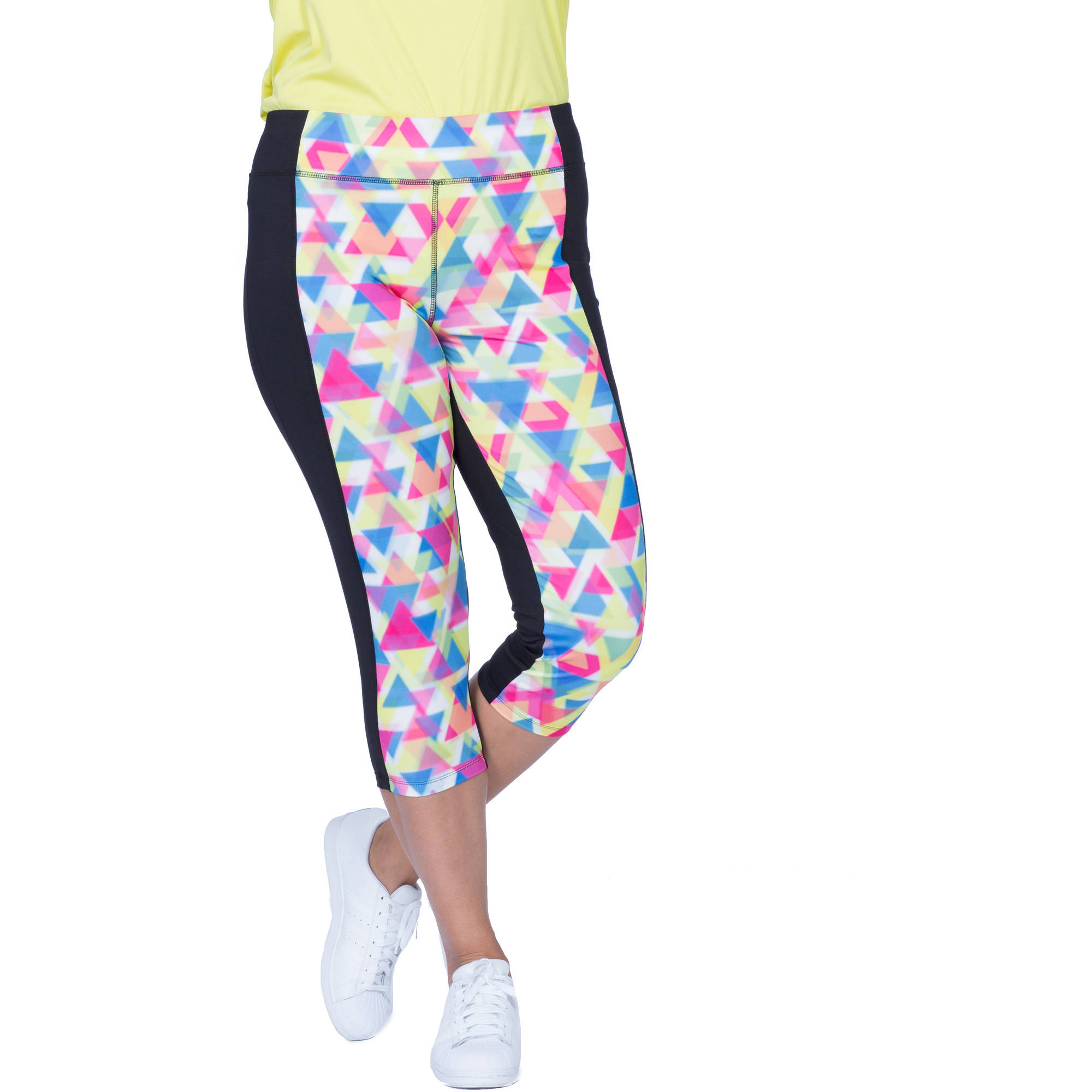 Plus Moda Tek Women's Plus-Size Printed Capris
