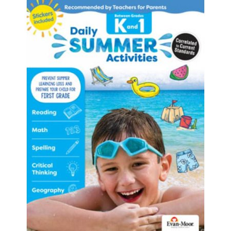 Daily Summer Activities : Moving from Kindergarten to 1st Grade, Grades K-1