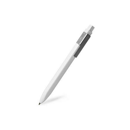 Moleskine Classic Click Ball Pen, White, Large Point (1.0 MM), Black Ink Eco Click Pen
