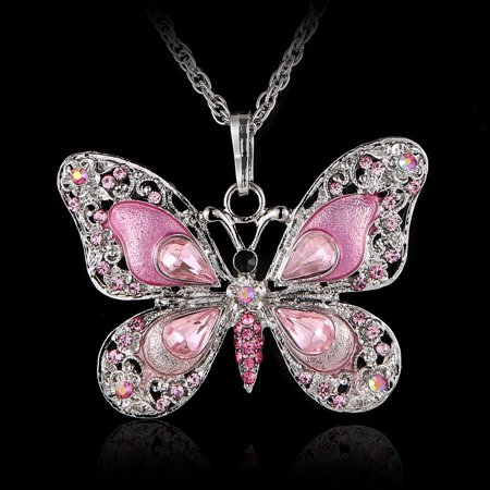 Butterfly Fashion Jewelry - Fashion Beauty Butterfly Pendant Necklace Chain Jewelry Gifts