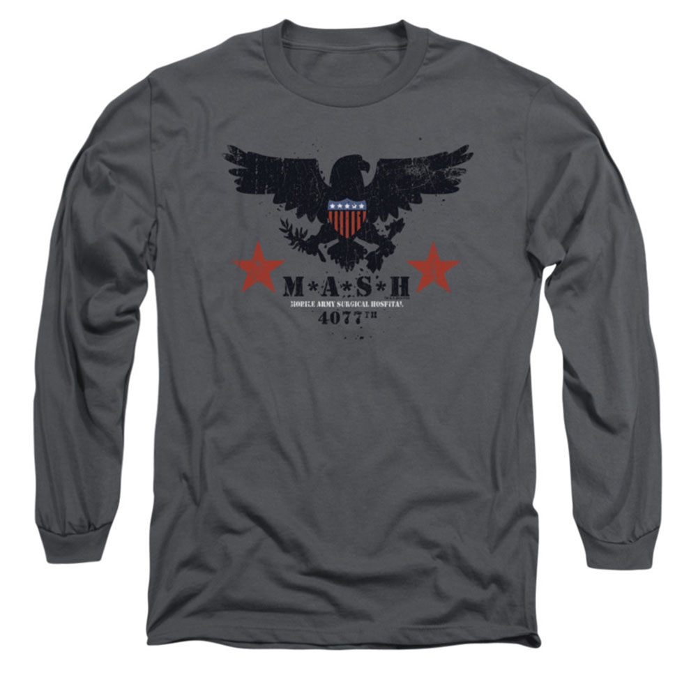 Mash Men's  Eagle Long Sleeve Charcoal