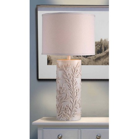 Kenroy Home Reef Table Lamp, Antique White