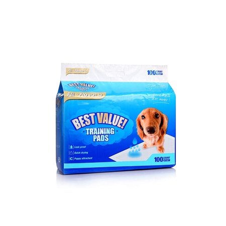 BEST VALUE! Pet Training and Puppy Pads - 100 count