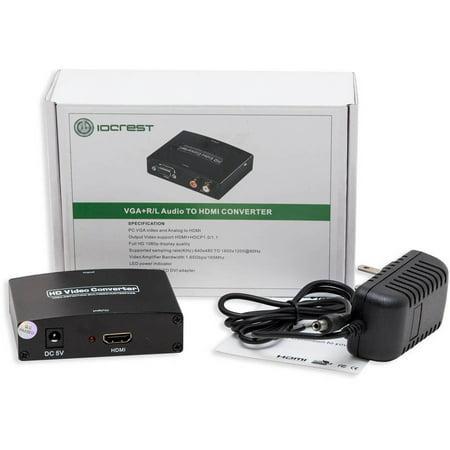 Syba Vga Hd15   Stereo Rca To Hdmi 1 3 Converter Box