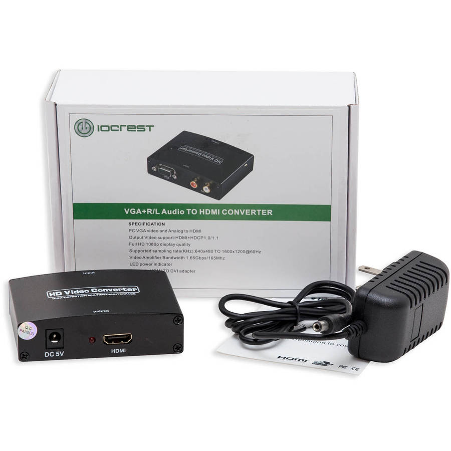 Syba VGA HD15 + Stereo RCA to HDMI 1.3 Converter Box