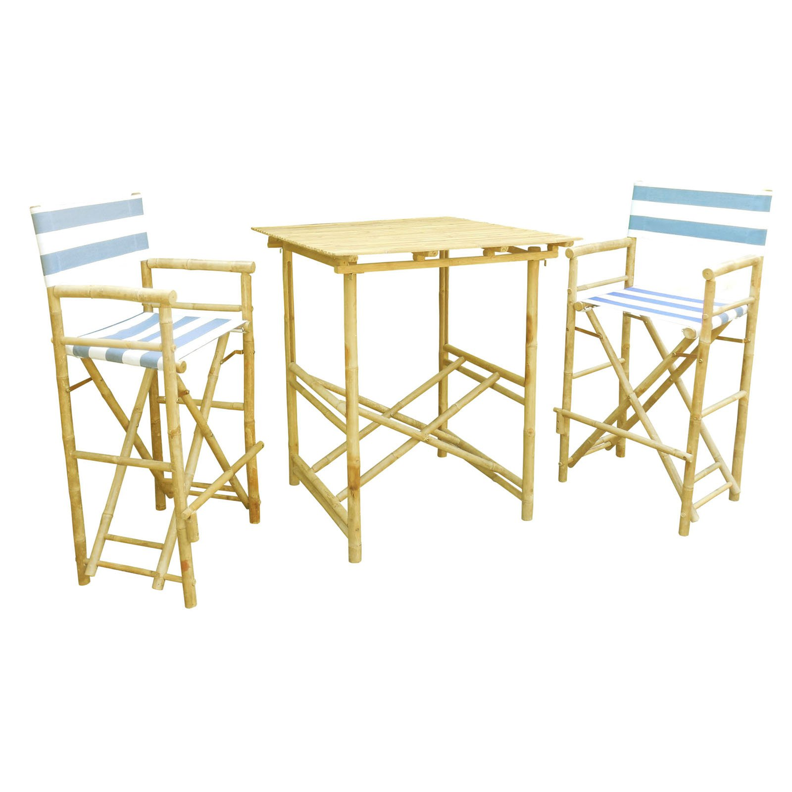 Phat Tommy Tall Foldable 3 Piece Patio Bistro Set