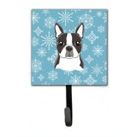 Carolines Treasures BB1637SH4 Snowflake Boston Terrier Leash & Key Holder