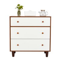 "3 Drawers Dressers for Bedroom, Heavy Duty Bedroom Side Table Bedside Table, Dressers with 4 Sturdy Legs, Wood Chest of Drawers, Compact Storage Drawers, Holds up to 165 lbs, 32"" x 16"" x 32"", Q2666"
