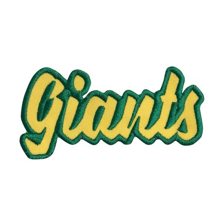 Giants - Yellow/Green - Team Mascot - Words/Names - Iron on Applique/Embroidered Patch