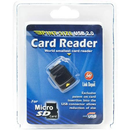 link depot usb 2 0 flash memory card reader microsd. Black Bedroom Furniture Sets. Home Design Ideas