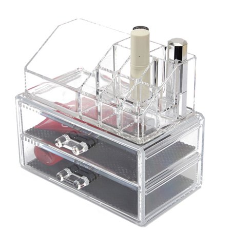 Cosmetic Makeup Jewelry Acrylic Cases Organizer Display Holder Drawers Storage