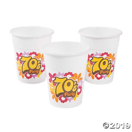 70s Party Disposable Cups - 70s Party