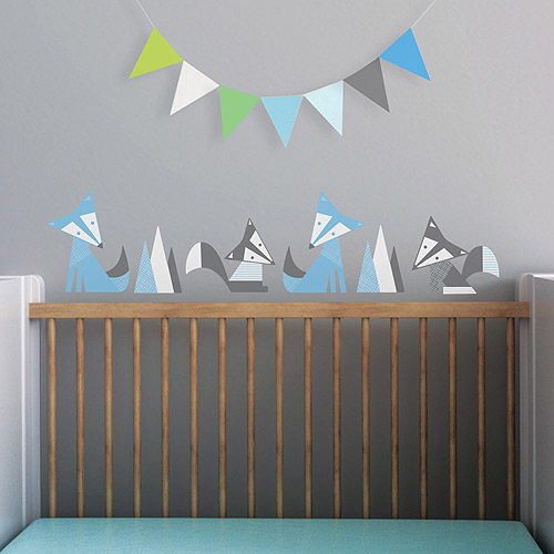 Foxes Fabric Wall Decals