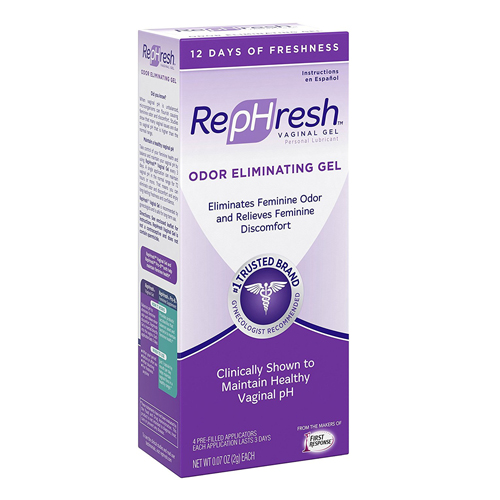 RepHresh Vaginal Personal Lubricant Odor Eliminating Gel, 4 Ea