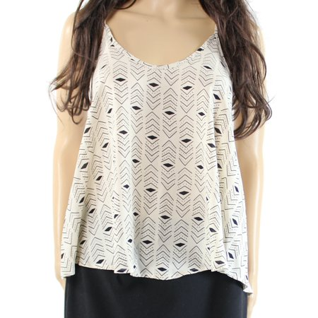 Lush NEW Beige Size XS Junior Printed Scoop Neck Swing Camisole Top