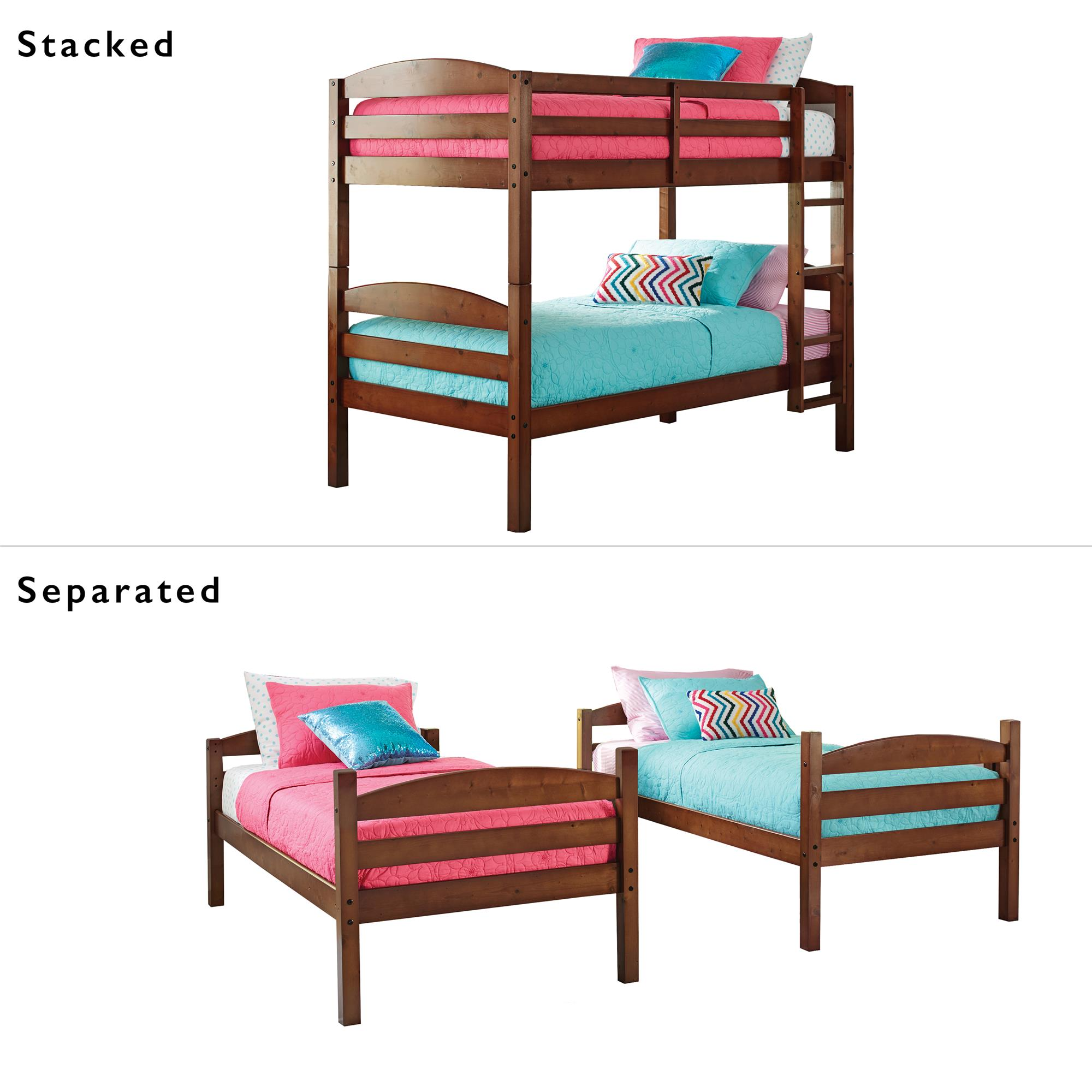best sneakers 9bb19 1de8a Details about Twin Bunk Beds Wood Bedroom Kids Furniture Bed Frame Discount  Clearance Teen New