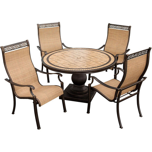 Hanover Monaco High Back Sling Outdoor Dining Chairs   Set Of 4