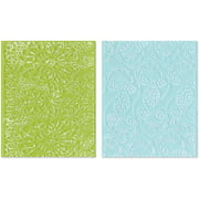 Sizzix Textured Impressions A2 Embossing Folders 2/Pkg-Bohemian Lace