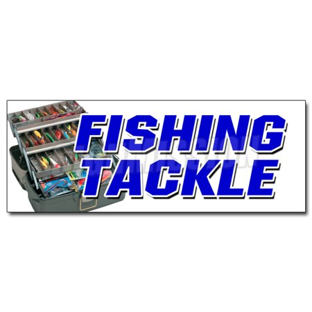 48 fishing tackle decal sticker fish rods reels rentals for Fishing tackle sale