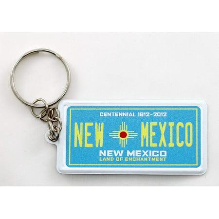 New Mexico License Plate Aluminum Ultra-Slim Rectangular Souvenir Keychain