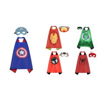 5 Set Superhero  Costumes - Capes and Masks with Gift Box by Superheroes