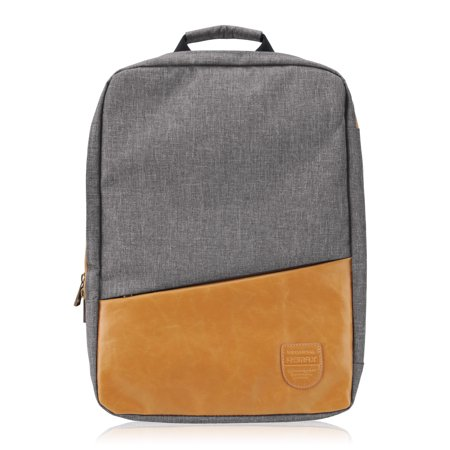 15 inch macbook pro remax canvas synthetic leather padded laptop backpack. Black Bedroom Furniture Sets. Home Design Ideas