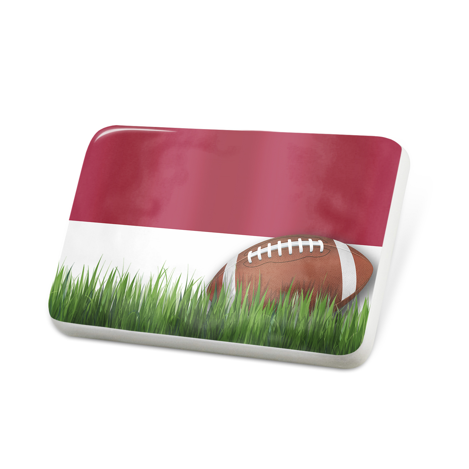 Porcelein Pin Football with Flag Indonesia Lapel Badge – NEONBLOND