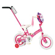 Schwinn Girls' Petunia 12-inch Steerable Bike,Pink/White