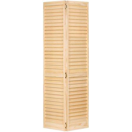 Closet Door, Bi-fold, Kimberly Bay Plantation Louver-Louver Clear 96 in. x 1 in. x 36 in. (96 Inch Closet Doors)