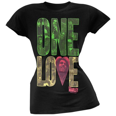 Bob Marley Tee Shirts - Bob Marley - One Love Block Black Women's T-Shirt