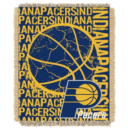 Indiana Pacers Jacquard Woven Throw Blanket