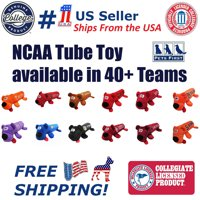 Pets First College Texas Longhorns DOG TOY - Licensed Tube Toys available in 40+ COLLEGE Teams Squeaky & Plush