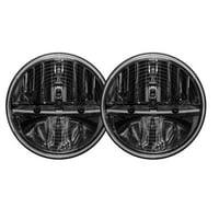 """Rigid Industries Truck-Lite 7"""" Round LED Heated Headlamp Kit (Black)"""