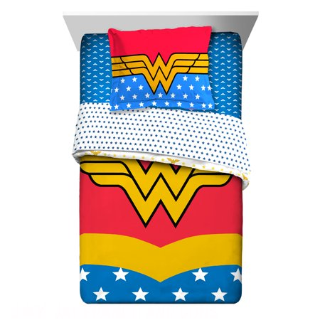 - Warner Brothers I Am Wonder Woman Twin & Full Comforter with Sham, 2 Piece