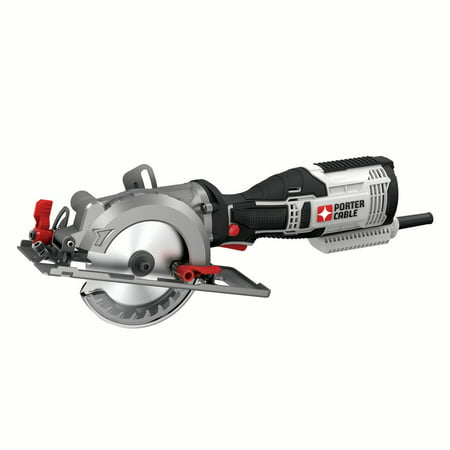 Porter Cable Table Saws - PORTER CABLE PCE381K 5.5-Amp 4-1/2-Inch Compact Circular Saw Kit