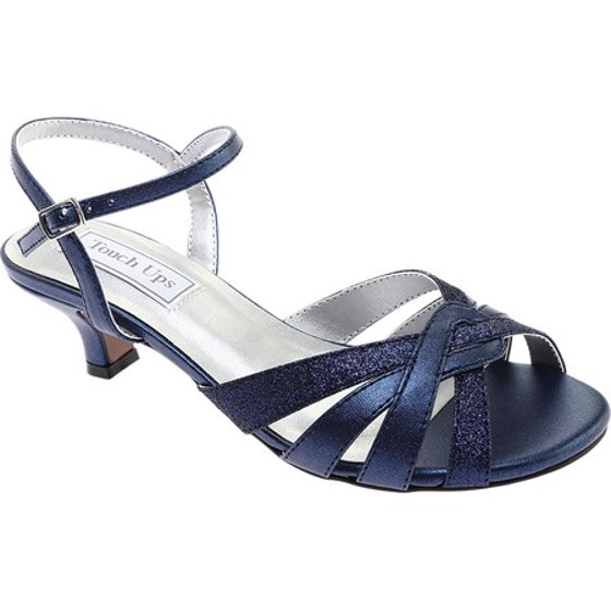 e28e61e25bd This peep toe dress sandal has flirty glitter detailing and a low heel for  added comfort. It even has an ankle strap for a secure fit. Women s Touch  Ups ...