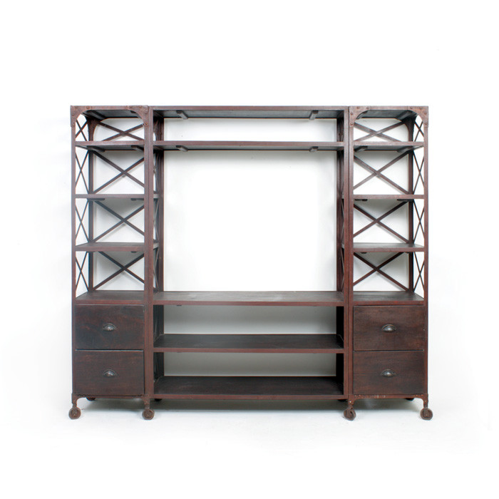 """Eclipse Home Collection Factory Entertainment Unit 81"""" L x 14"""" W x 71"""" H opening for TV 43"""" L x... by"""