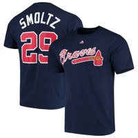 John Smoltz Atlanta Braves Majestic Cooperstown Collection Official Name & Number T-Shirt - Navy